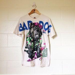 Novelty t shirt bad party dog xl